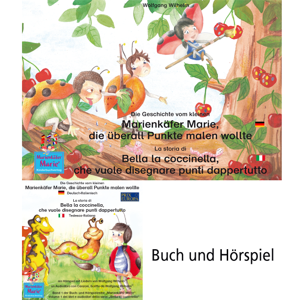 Die Geschichte Vom Kleinen Marienkäfer Marie Die überall Punkte Malen Wollte Deutsch Italienisch La Storia Di Bella La Coccinella Che Vuole